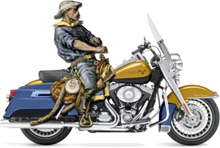 Soldier on Bike